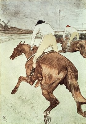 Fine Art Print of The Jockey, 1899 by Henri de Toulouse-Lautrec