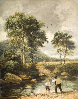 Fine Art Print of On the Lledr, 1852 by David Cox