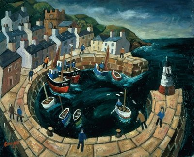 Fine Art Print of Brittany Harbour by William Cooper