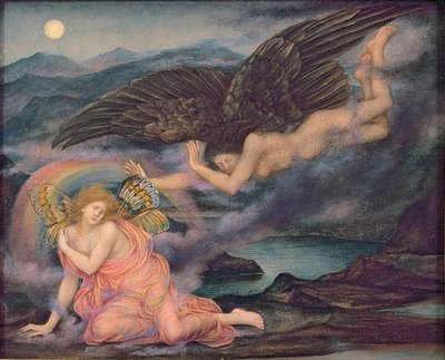 Fine Art Print of Death of a Butterfly, c.1905-10 by Evelyn De Morgan