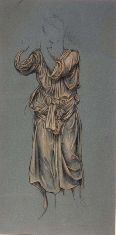 Fine Art Print of Drapery Study for the figure of eternal youth from 'The Hour Glass', c.1904-5 by Evelyn De Morgan