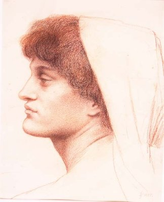 Profile of a Female Head, 1885 Poster Art Print by Evelyn De Morgan