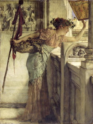 'There He Is!', 1875 Poster Art Print by Sir Lawrence Alma-Tadema