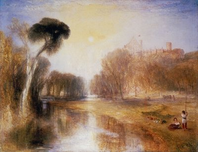 Fine Art Print of Schloss Rosenau, Seat of H.R.H. Prince Albert of Coburg, 1841 by Joseph Mallord William Turner