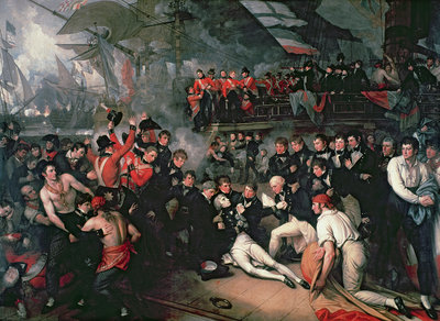 Fine Art Print of The Death of Nelson, 21st October 1805 by Benjamin West