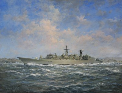 Fine Art Print of H.M.S. Chatham Type 22 by Richard Willis