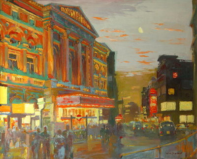 London Night (oil on board) by William Ireland - print