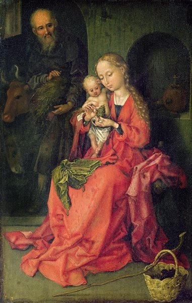 Fine Art Print of The Holy Family, c.1480-90 by Martin Schongauer