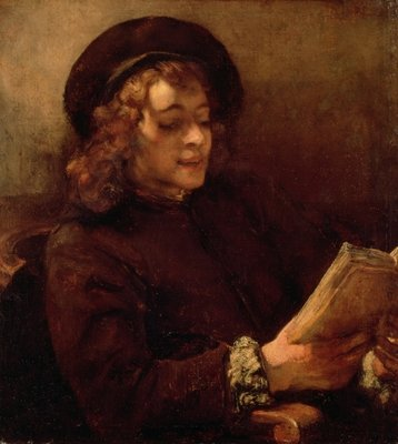 Titus Reading, c.1656-57 (oil on canvas) by Rembrandt Harmensz. van Rijn - print