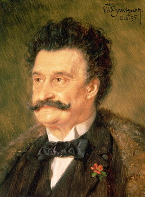 Johann Strauss the Younger, 1895 Poster Art Print by Eduard Grutzner
