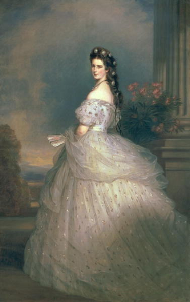 Elizabeth of Bavaria (1837-98), Empress of Austria, wife of Emperor Franz Joseph of Austria (1830-1916) (oil on canvas) by Franz Xaver Winterhalter - print