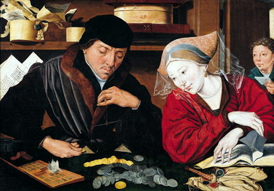Fine Art Print of The Tax Collector by Marinus van Roejmerswaelen