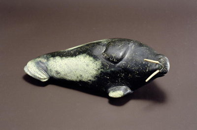 Walrus, from Cape Dorset (soapstone) by Inuit School - print