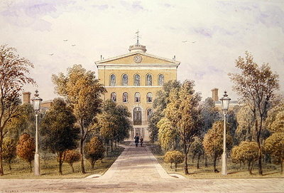 Governor's House, Tothill Fields New Prison, 1852 (w/c on paper) by Thomas Hosmer Shepherd - print