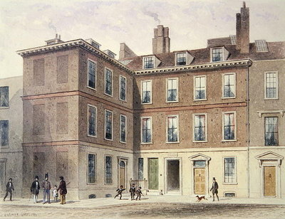 Judge Jeffrey's House, 1853 (w/c on paper) by Thomas Hosmer Shepherd - print