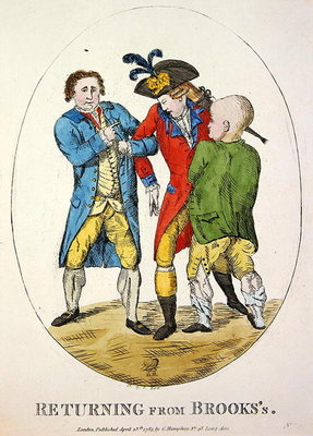 Fine Art Print of Returning from Brooks's, 1784 by James Gillray