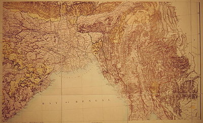 Fine Art Print of Map of the Bay of Bengal, 1898 by English School