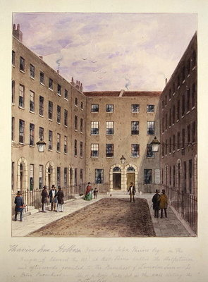Travies' Inn, Holborn, 1858 (w/c on paper) by Thomas Hosmer Shepherd - print