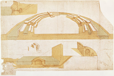 Study for a Fortress on a Polygonal Ground Plan with a Double Moat, fol. 116r from the Codex Atlanticus, 1504-8 (pen & Indian ink on paper) by Leonardo da Vinci - print