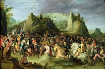 Christ on the Road to Calvary Poster Art Print by Frans II the Younger Francken
