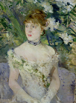 Fine Art Print of Young girl in a ball gown, 1879 by Berthe Morisot
