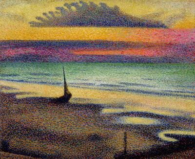 Fine Art Print of The Beach at Heist, 1891-92 by Georges Lemmen