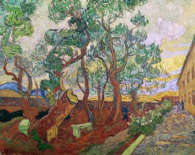 Fine Art Print of The Garden of St. Paul's Hospital at St. Remy, 1889 by Vincent van Gogh