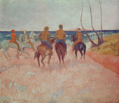 Horseman on the Beach Poster Art Print by Paul Gauguin