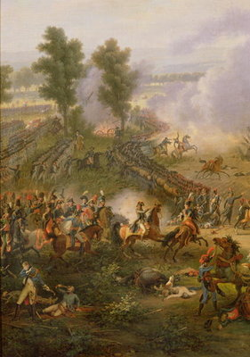 Fine Art Print of The Battle of Marengo, detail of Napoleon Bonaparte by Louis Lejeune