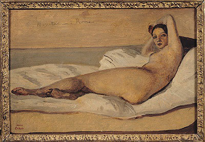 Fine Art Print of The Roman Odalisque by Jean Baptiste Camille Corot