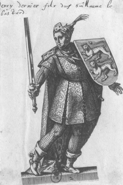 Henry I (1068-1135) King of England (engraving) (b/w photo) by French School - print