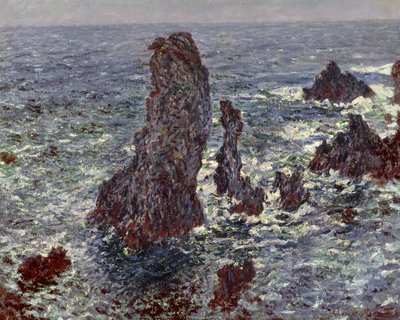 The Rocks at Belle-Ile, 1886 (oil on canvas) by Claude Monet - print
