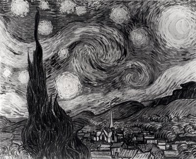 Fine Art Print of The Starry Night, June 1889 by Vincent van Gogh