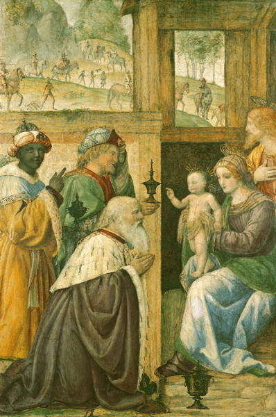 Adoration of the Magi Poster Art Print by Bernardino Luini