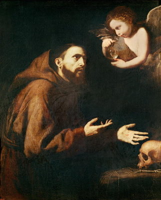 Fine Art Print of Vision of St. Francis of Assisi by Jusepe de Ribera