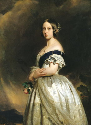 Queen Victoria (1837-1901) 1842 (oil on canvas) by Franz Xaver Winterhalter - print