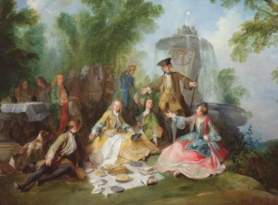 Fine Art Print of The Hunting Party Meal, c. 1737 by Nicolas Lancret