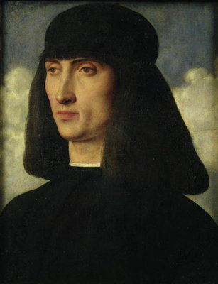 Portrait of a Young Man, c.1500 Poster Art Print by Giovanni Bellini