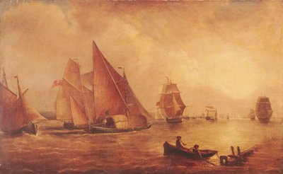 Estuary of the Thames and the Medway Poster Art Print by Joseph Mallord William Turner