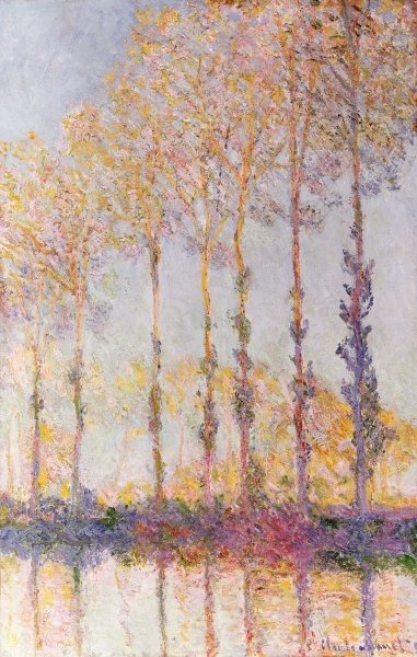 Fine Art Print of Poplars on the Banks of the Epte, 1891 by Claude Monet