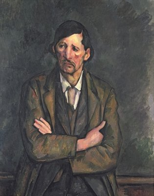 Fine Art Print of Man with Crossed Arms, c.1899 by Paul Cezanne