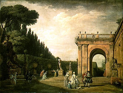 Fine Art Print of The Gardens of the Villa Ludovisi, Rome, 1749 by Claude Joseph Vernet