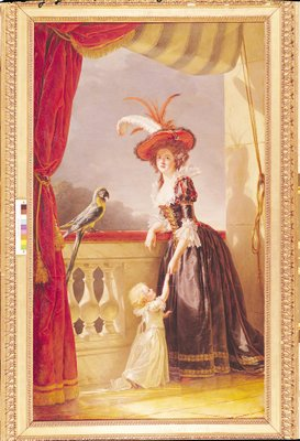 Fine Art Print of Portrait of Louise-Elisabeth de France by Adelaide Labille-Guiard