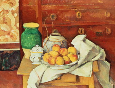 Still Life with a Chest of Drawers, 1883-87 Poster Art Print by Paul Cezanne