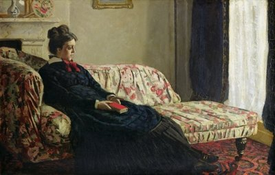 Fine Art Print of Meditation, or Madame Monet on the Sofa, c.1871 by Claude Monet