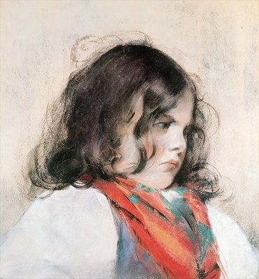 Fine Art Print of Head of a Child by Mary Stevenson Cassatt