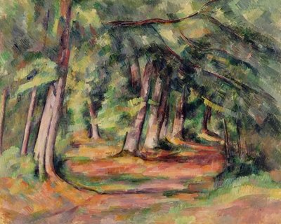 Fine Art Print of Sous-bois by Paul Cezanne