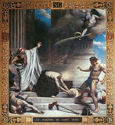 The Martyrdom of St. Denis (mural) by Leon Joseph Florentin Bonnat - print