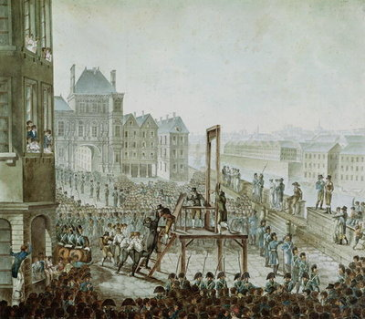Fine Art Print of The Execution of Georges Cadoudal by Armand de Polignac