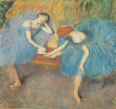 Fine Art Print of Two Dancers at Rest or, Dancers in Blue, c.1898 by Edgar Degas